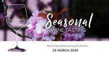 Seasonal Wine Tasting and Food Pairing Evenings